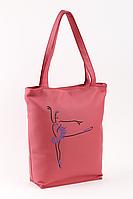 Сумка-шоппер с вышивкой Розовый (SB_381_fly_c)