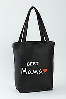 Женская сумка стандарт флай с вышивкой Лучшая мама Черный
