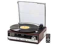 Грамофон Програвач CAMRY CR 1114 Радіо USB Будильник + Пульт, фото 1