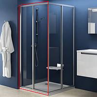 RAVAK Душевая дверь в нишу SRV2-80 S white+glass Transparent (14V40102Z1)