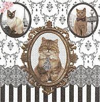 Салфетка декупажная Картины с котами