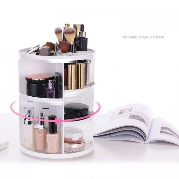 Podarki Органайзер вращающийся для макияжа на 360 (White)
