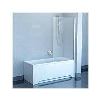 RAVAK Штора для ванны PVS1-80 satin+glass Transparent (79840U00Z1)