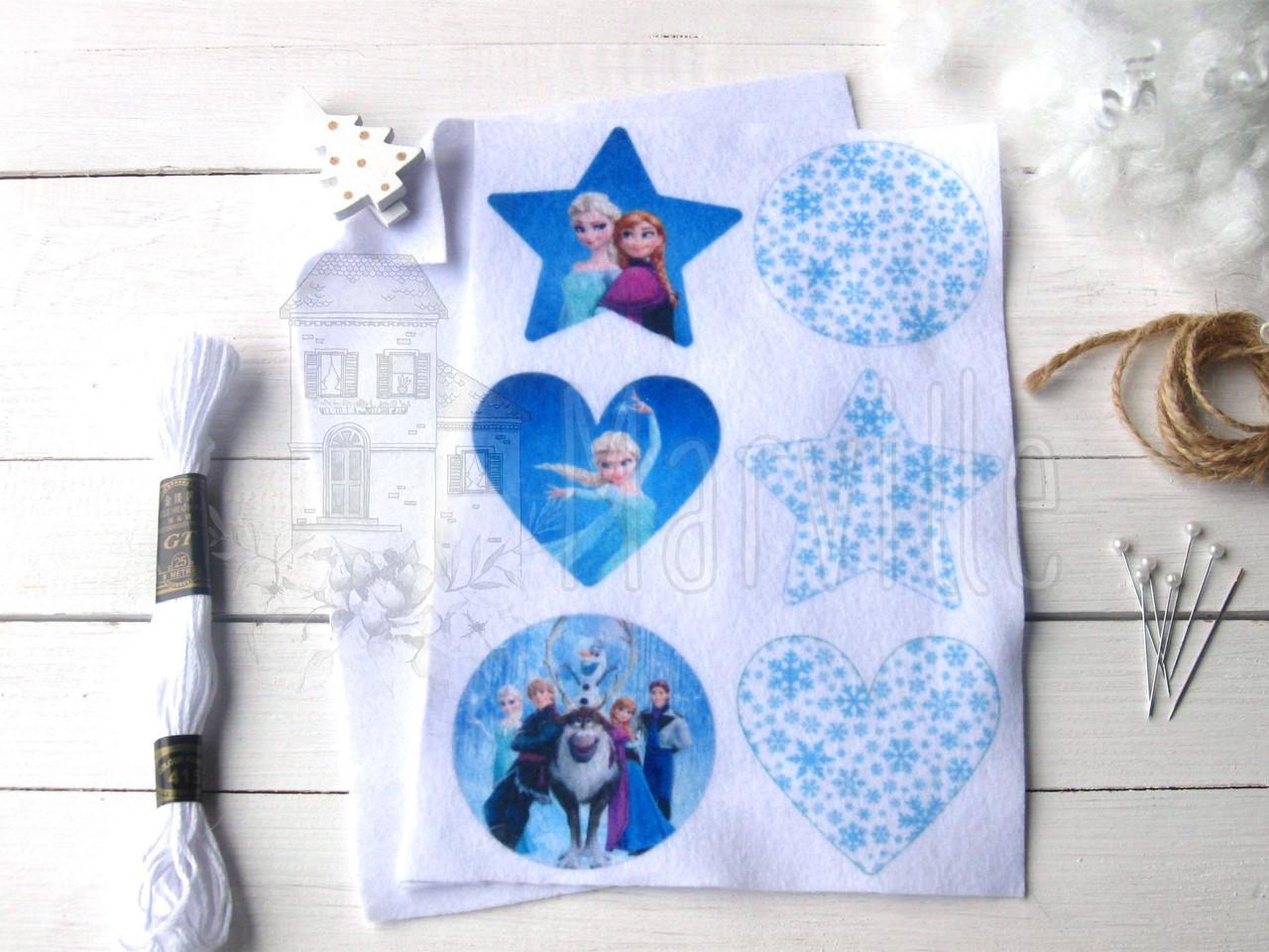"""Набор для творчества """"Новогодние игрушки: Frozen"""" """" односторонний"""