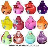 Кресло груша мешок ПЕППА мяч пуф для детей мягкий бескаркасный с именем, фото 8