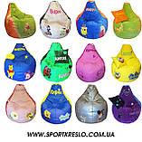 Кресло груша мешок ПЕППА мяч пуф для детей мягкий бескаркасный с именем, фото 9