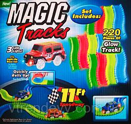 Гоночная трасса Magic Tracks Меджик Трек 220 деталей светящаяся