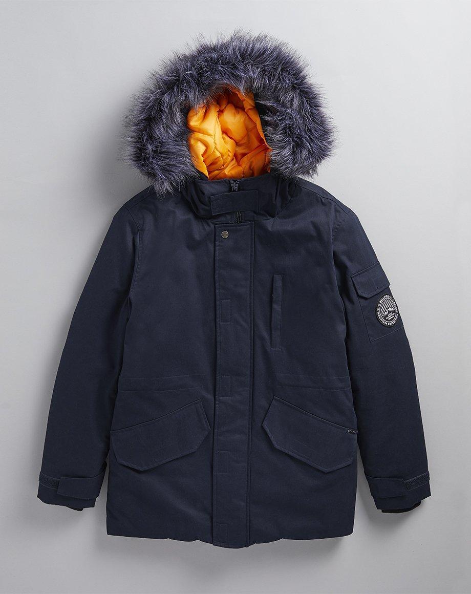 Парка\куртка Bellfield - Moudler темно синяя с  меховой отделкой (мужская/чоловіча) Зима
