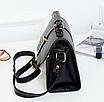 Сумка женская черная через плечо с ручкой Katе Черный, фото 4