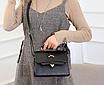 Сумка женская черная через плечо с ручкой Katе Черный, фото 6