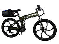 Электровелосипед Hummer electrobike foldable Зеленый 500, КОД: 213550