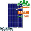 Amerisolar AS-6P30 280 W 5BB поликристаллическая солнечная панель (батарея, фотоэлектрический модуль)