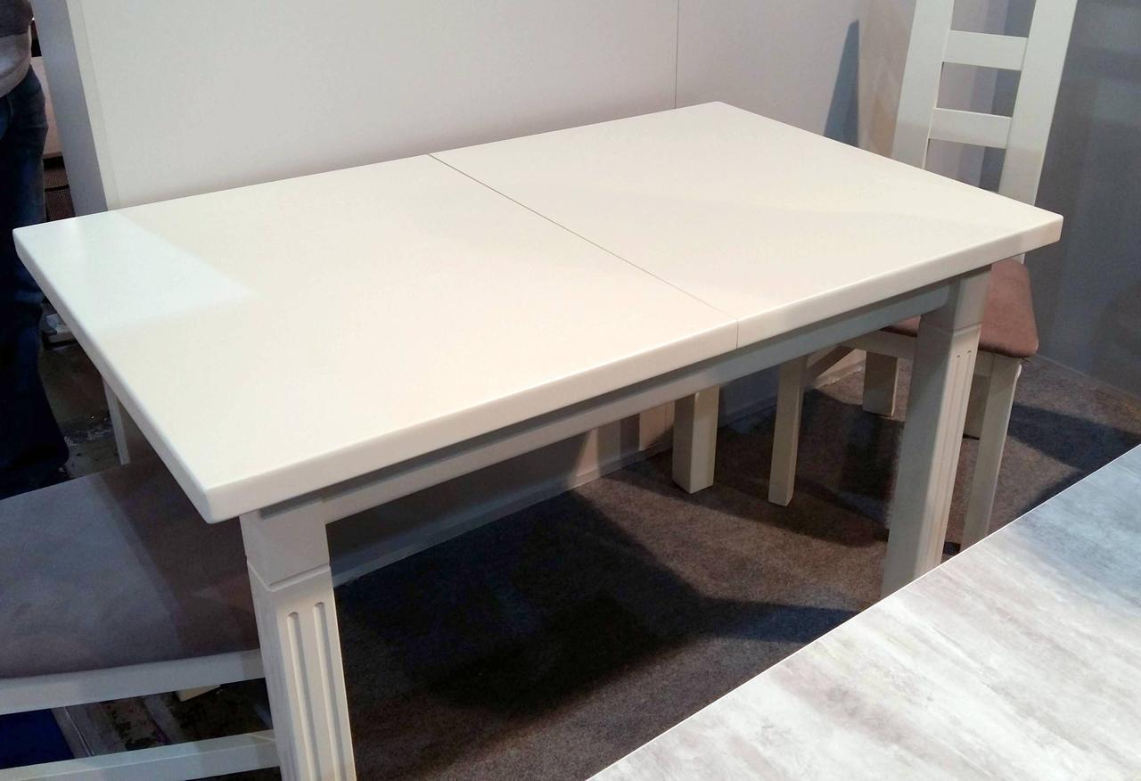 Стол обеденный   Классик Люкс 140  fn (белый,  ваниль RAL1013, бежевый RAL1015    )