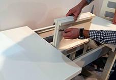 Стол обеденный   Классик Люкс 140  fn (белый,  ваниль RAL1013, бежевый RAL1015    ), фото 3