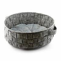 Корзинка плетенная без подушки Digitalwool Серый, КОД: 218802