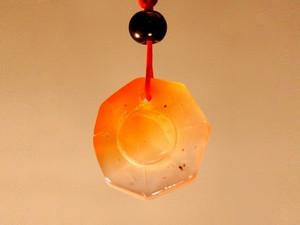 Кулон сердоликовый Ба-гуа
