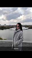 Женская стильная шубка из искусственного каракуля с карманами, фото 1