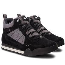 Ботинки Оригинальные мужские Merrell BURNT ROCK TURA MID SIEDE J32877 Black Чёрные, фото 3