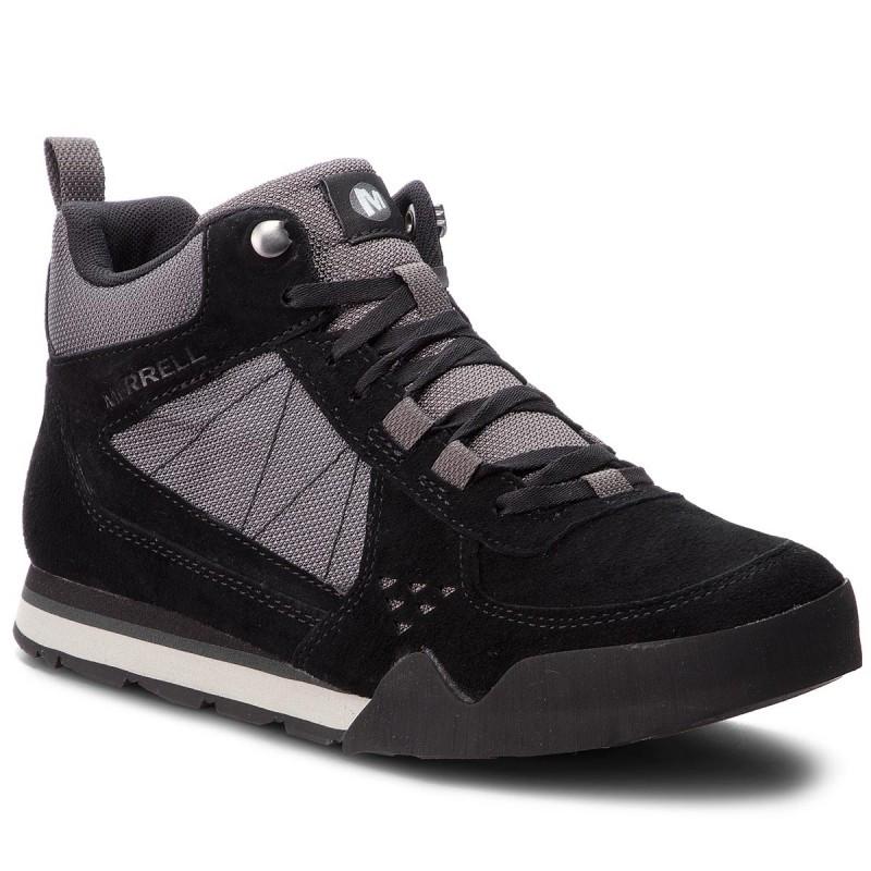 Ботинки Оригинальные мужские Merrell BURNT ROCK TURA MID SIEDE J32877 Black Чёрные
