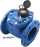 Водосчетчик Apator PoWoGaz MWN-150-NK (ХВ) с импульсным выходом турбинный Ду-150 сухоход промышленный