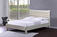 Кровать Каролина 1,6х2 м белая, массив ольхи+МДФ