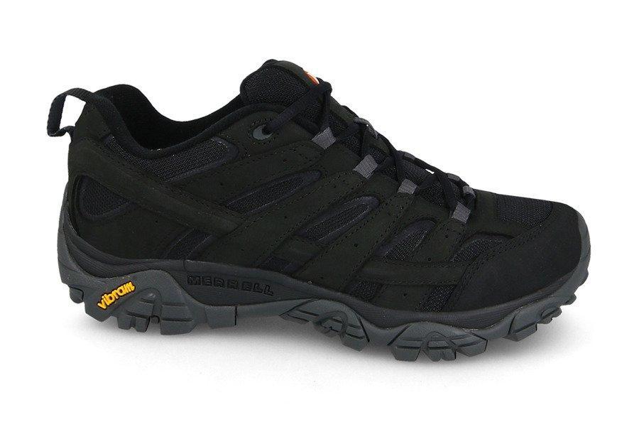 Ботинки Оригинальные мужские Merrell Moab 2 SMOOTH J42511 Black Чёрные