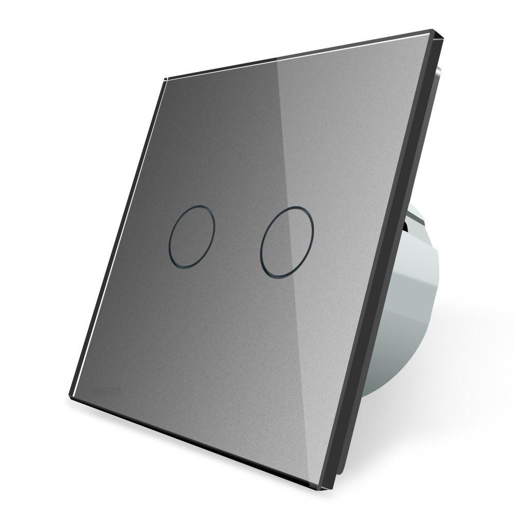 """Сенсорный выключатель Livolo """"сухой контакт"""" 2 канала (VL-C702I-15)"""