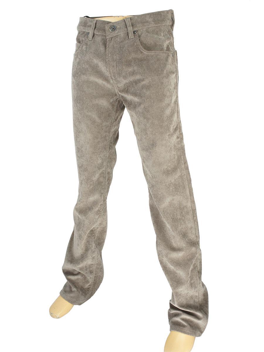 Мужские вельветовые джинсы Cen-cor MD-608 коричневого цвета на флисе