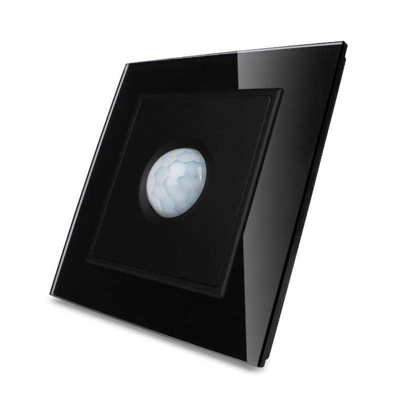 Датчик движения, Инфракрасный выключатель Livolo цвет черный, стекло (VL-W291RG-12)