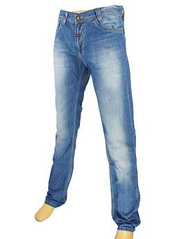 Мужские джинсы Cen-cor CNC-1104 Blue с потертостями
