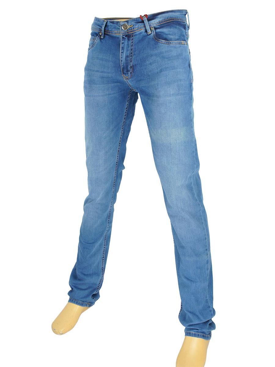 Светлые мужские джинсы X-Foot 261-2355 C:Blue