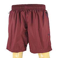 Однотонные бордовые мужские шорты Maraton SHR.021 B bordo большого размера, фото 1