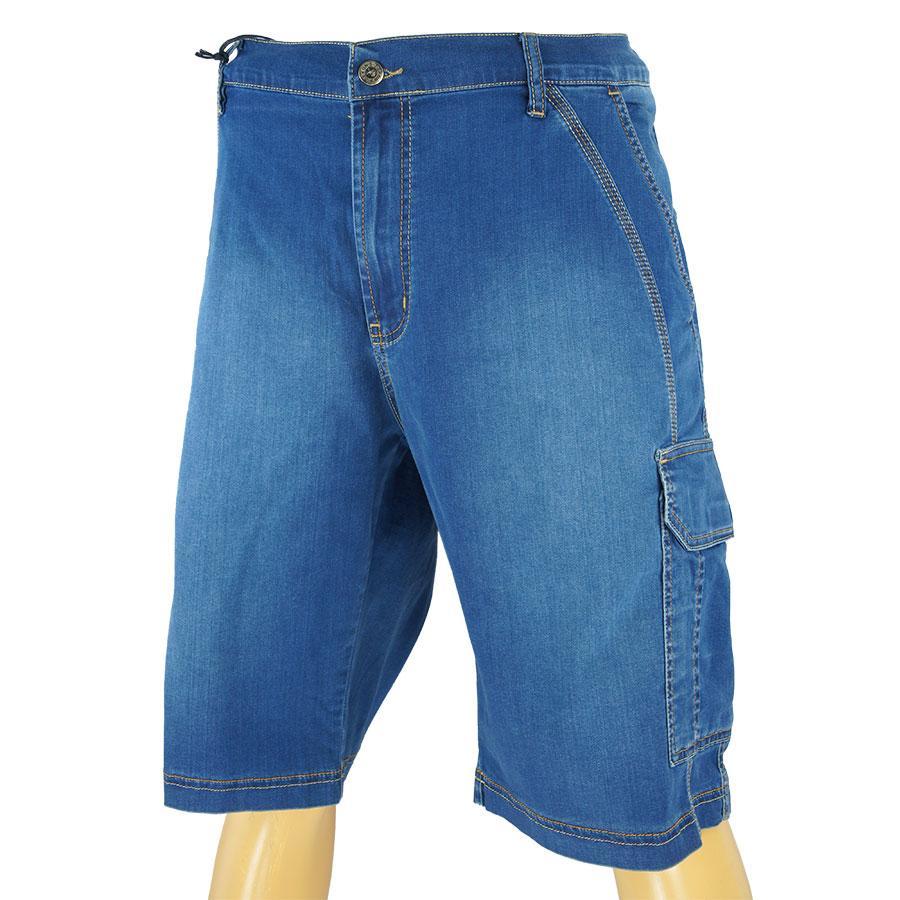 Чоловічі джинсові шорти Dekons 2342 Blue великого розміру