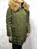 Пуховик женский зимний Visdeer цвет хаки 7170