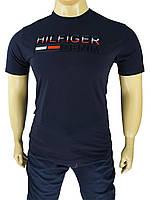 Мужская турецкая футболка T H 860 dark-blue большого размера, фото 1