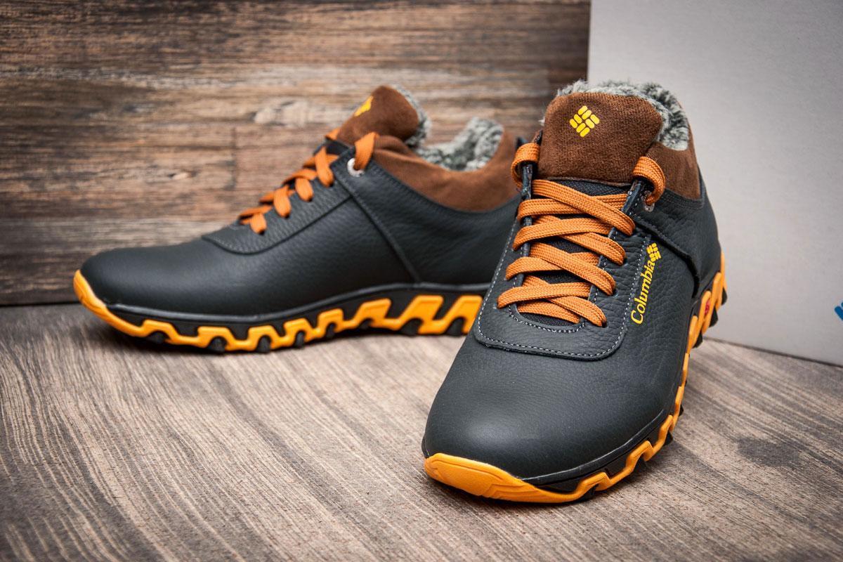 b2b06d1ce908 Мужские зимние кроссовки в стиле Columbia Track II, темно-синие, Код товара