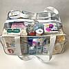 Набор из 2 прозрачных сумок в роддом Mommy Bag - S,L - Красные, фото 6