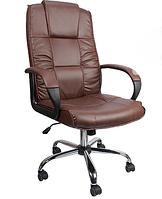 Кресло офисное вращающейся из кожи Коричневое  Konsul 807 VIP