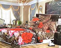 Постельное белье двухспальное 3D Розы