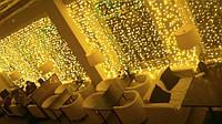 Гирлянда Штора Водопад 320 LED 3м*3м, Цвет желтый