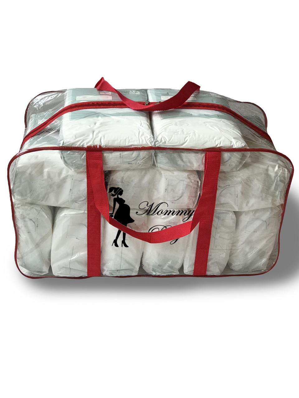 Сумка прозрачная в роддом Mommy Bag - XL - 65*35*30 см Красная