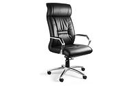 Крісло шкіряне офісне Чорне, фото 1