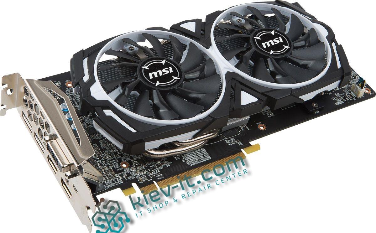 """Видеокарта MSI Radeon RX 470 ARMOR 4G GDDR5 256bit """"Over-Stock"""" Б/У"""