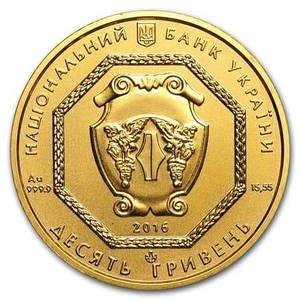 Монета Архистратиг Михаил золото 10 гривен 1/2 унция