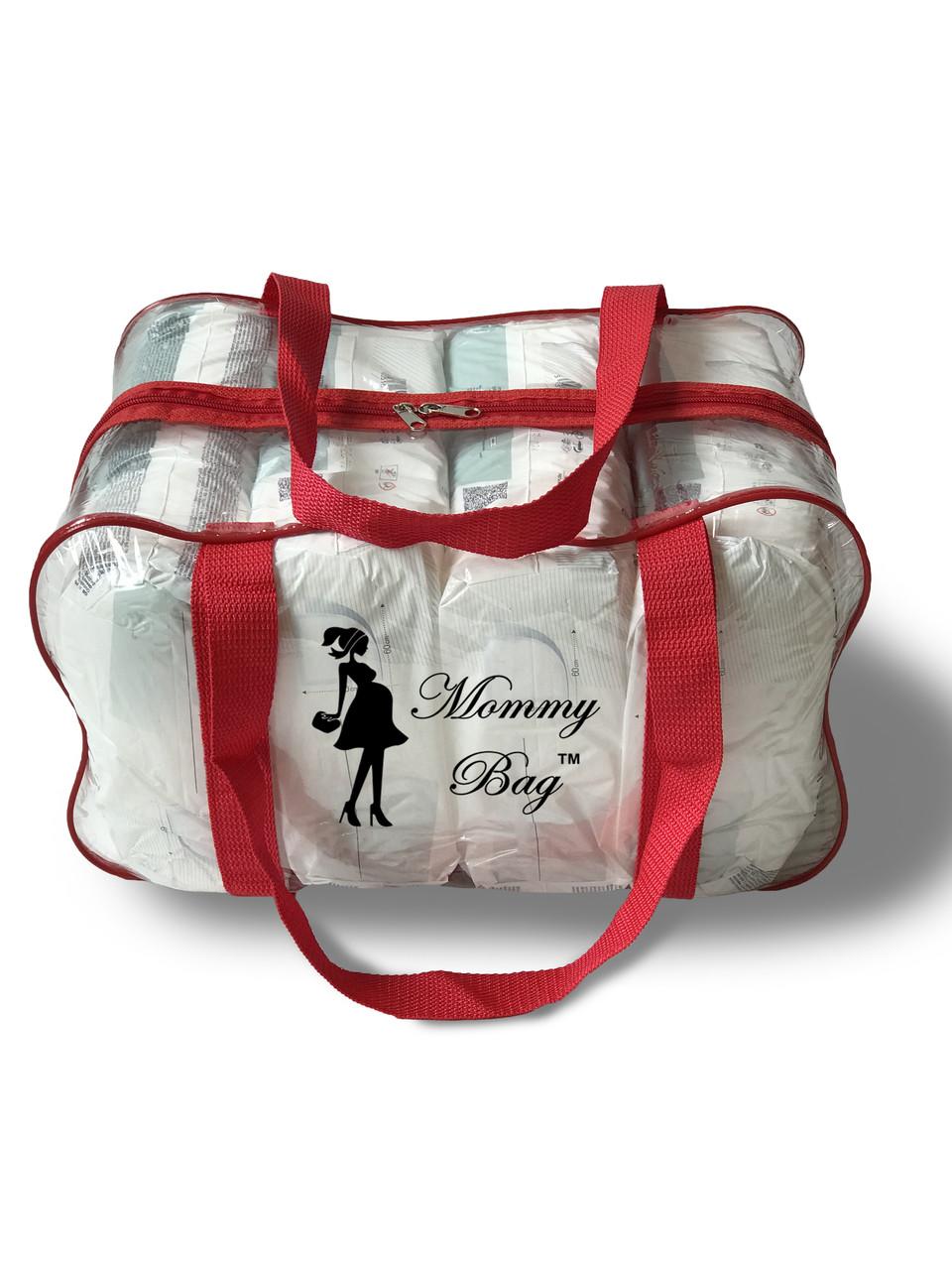 Сумка прозрачная в роддом Mommy Bag - M - 40*25*20 см Красная