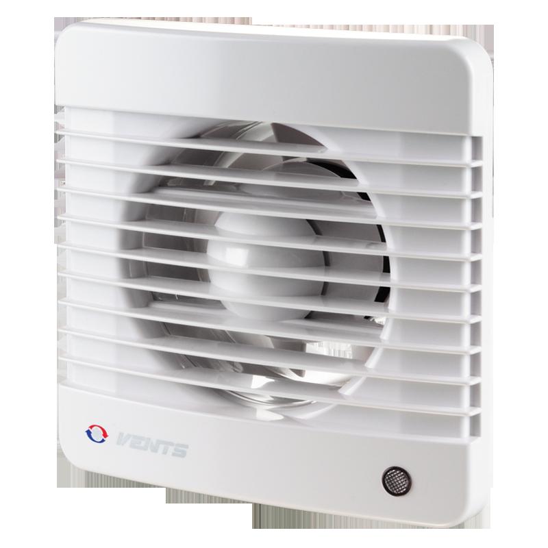 Вентилятор осевой Вентс 125 М ВТНКЛ пресс, микровыключатель, таймер, датчик влажности, клапан, подшипник, вытяжной, мощность 22Вт, объем 188м3/ч,