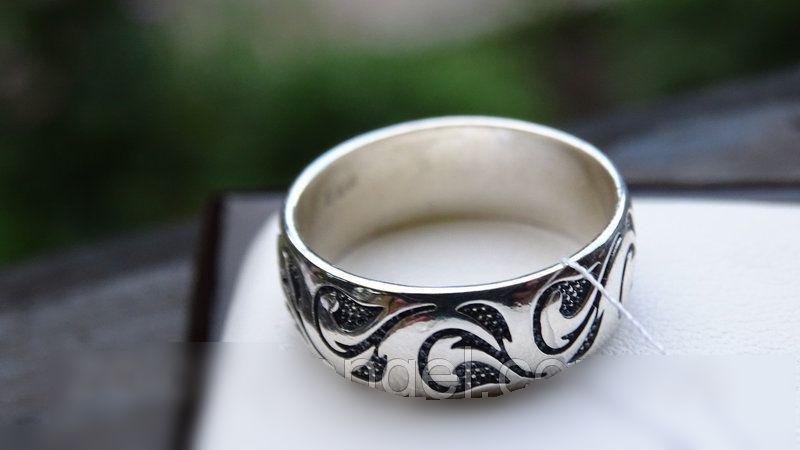 Классическое серебряное кольцо