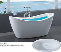 Отдельностоящая акриловая ванна Atlantis C-3002, фото 1