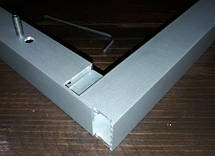 Стык потайной для сборки конструкций из трубы квадратной 25х25мм, фото 2