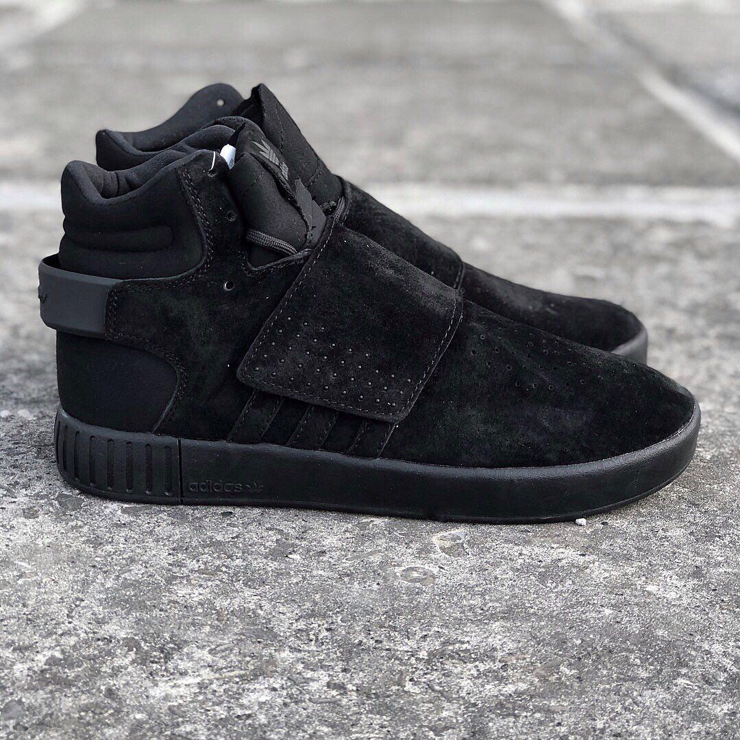 95cb4d25 Мужские зимние кроссовки Adidas Tubular Invader Strap Black (в наличии 41  42 43 44 45